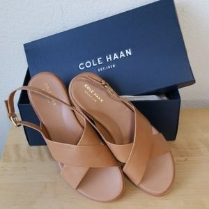 Cole Haan Fernanda Flat Sandal - Pecan - Size 11